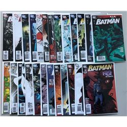 Lot of (22) 2007-2011 DC Batman 1st Series Comic Books