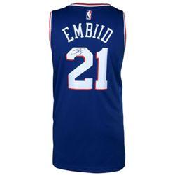 Joel Embiid Signed 76ers Nike Jersey (Fanatics Hologram)