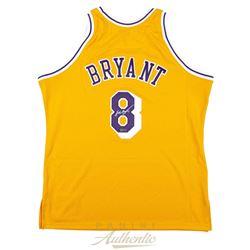 Kobe Bryant Signed Lakers 1996-97 Gold Rookie Jersey (Panini COA)
