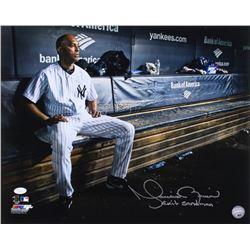 "Mariano Rivera Signed New York Yankees 16x20 Photo Inscribed ""Exit Sandman"" (JSA COA)"
