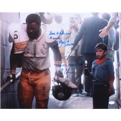 """Joe Greene  Tommy Okon Signed """"Hey Kid, Catch!"""" 16x20 Photo Inscribed """"Have a Coke and a Smile""""  """"Th"""