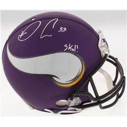 """Dalvin Cook Signed Vikings Full-Size Authentic On-Field Helmet Inscribed """"Skol!"""" (JSA COA)"""