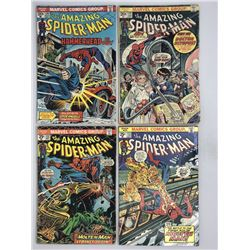 Lot of (4) 1974 Marvel Amazing Spider-Man 1st Series Series Comic Books with #130 #131 #132  #133