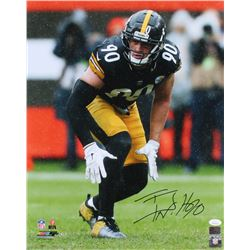 T. J. Watt Signed Pittsburgh Steelers 16x20 Photo (JSA COA  Watt Hologram)