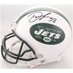 Darron Lee Twice-Signed Jets Full-Size Authentic On-Field Helmet (JSA Hologram)