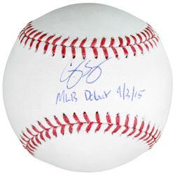 "Corey Seager Signed Baseball Inscribed ""MLB Debut 9/3/15"" (Fanatics Hologram  MLB Hologram)"