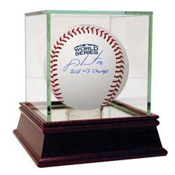 "J.D. Martinez Signed 2018 World Series Logo Baseball Inscribed ""2018 WS Champs"" (Steiner COA)"