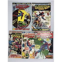 Lot of (5) 1972-74 Marvel Amazing Spider-Man 1st Series Comic Books with #115, #116, #118, #127  #12
