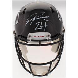 Devonta Freeman Signed Falcons Full-Size Authentic On-Field Speed Helmet (Radtke COA)