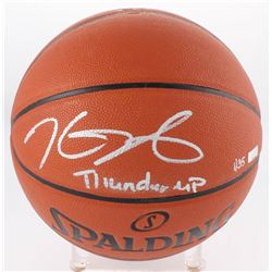 "Kevin Durant Signed LE NBA Game Ball Series Basketball Inscribed ""Thunder Up"" (Panini COA)"