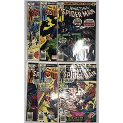 Lot of (6) 1977-78 Marvel Amazing Spider-Man 1st Series Comic Books
