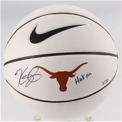 Kevin Durant Signed LE Texas Longhorns Logo Basketball Inscribed  Hook Em  (Panini COA)