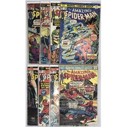 Lot of (8) 1974-75 Marvel Amazing Spider-Man 1st Series Comic Books