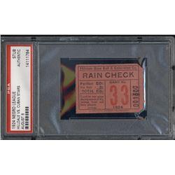 1924 Hilldale vs. Cuban Stars Negro League Baseball Ticket Stub (PSA Encapsulated)