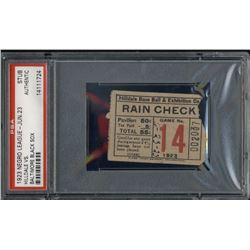 1923 Hilldale vs. Baltimore Black Sox Negro League Baseball Ticket Stub (PSA Encapsulated)