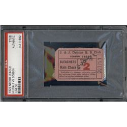 1922 Hilldale vs. Dobson Negro League Baseball Ticket Stub (PSA Encapsulated)