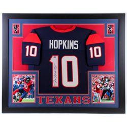 DeAndre Hopkins Signed Texans 35x43 Custom Framed Jersey (TriStar Hologram)