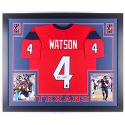 Deshaun Watson Signed Texans 35x43 Custom Framed Jersey (JSA COA  Watson Hologram)