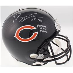 "Roquan Smith Signed Bears Full-Size Helmet Inscribed ""Monsters of the Midway"" (Schwartz COA)"
