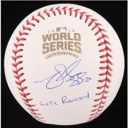 "Matt Szczur Signed 2016 World Series Baseball Inscribed ""Curse Reversed"" (Schwartz COA)"