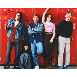 The Breakfast Club 16x20 Photo Signed by (4) with Judd Nelson, Molly Ringwald, Emilio Estevez  Ally
