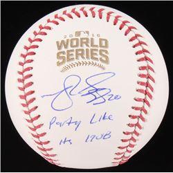"Matt Szczur Signed 2016 World Series Baseball Inscribed ""Party Like It's 1908"" (Schwartz COA)"