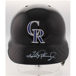 Andres Galarraga Signed Colorado Rockies Full-Size Batting Helmet (Radtke COA)