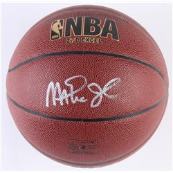 Kareem Abdul-Jabbar  Magic Johnson Signed Basketball (Radtke COA)