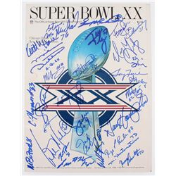 1985 Bears Super Bowl XX Game Program Team-Signed by (29) with Mike Ditka, Jim McMahon, Steve McMich