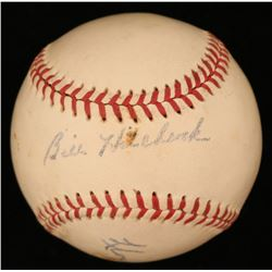 Lloyd Merriman  Billy Hitchock Signed OAL Baseball (JSA Hologram)