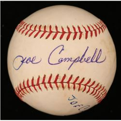 Joe Campbell Signed OL Baseball (JSA COA)