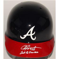 Chipper Jones Signed Atlanta Braves Full-Size Batting Helmet Inscribed  Last to Wear #10  (JSA COA)