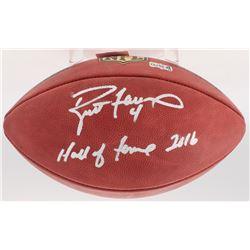 """Brett Favre Signed Wilson """"The Duke"""" Official NFL Game Ball Inscribed """"Hall of Fame 2016"""" (Radtke CO"""