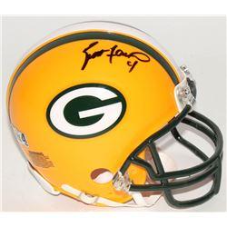 Brett Favre Signed Packers Mini-Helmet (Radtke COA)