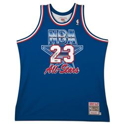 Michael Jordan Signed 1993 Mitchell  Ness NBA All-Stars Authentic Jersey (UDA COA)