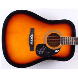 Adam Levine Signed 41  Acoustic Guitar (PSA Hologram)