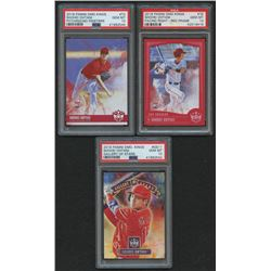 Lot of (3) PSA Graded 10 Shohei Ohtani Baseball Cards with 2018 Diamond Kings Gallery of Stars #11,