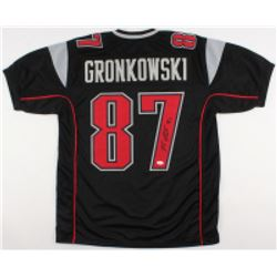 Rob Gronkowski Signed New England Patriots Jersey (JSA COA)