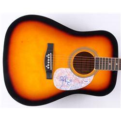 "Stefan Lessard Signed 41"" Acoustic Guitar (PSA COA)"
