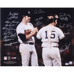 New York Yankees 16x20 Photo Team-Signed by (17) With Reggie Jackson, Goose Gossage, Graig Nettles,