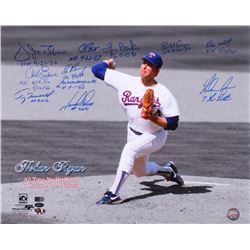 7 Career No-Hitters 16x20 Photo Signed by (11) With Nolan Ryan, Vida Blue, Carl Erskine, Terry Mulho