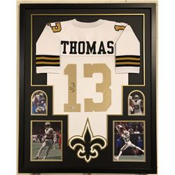 Michael Thomas Signed New Orleans Saints 34x42 Custom Framed Jersey Display (Beckett COA)