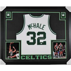 Kevin McHale Signed Boston Celtics 35x43 Custom Framed Jersey (JSA COA)