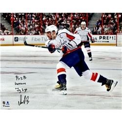 "Alex Ovechkin Signed Washington Capitals 16X20 Limited Edition Photo Inscribed ""B2B HAT TRICKS""  ""7G"