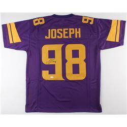Linval Joseph Signed Minnesota Vikings Color Rush Jersey (JSA COA)