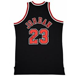 Michael Jordan Signed Chicago Bulls Authentic Mitchell  Ness Black Alternative Jersey (UDA COA)