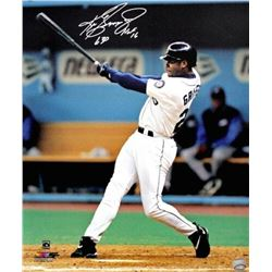 "Ken Griffey Jr. Signed Seattle Mariners ""Swinging"" 16x20 Photo Inscribed ""HOF 16"" (TriStar Hologram)"