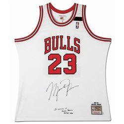 Michael Jordan Signed 1991-92 Mitchell  Ness Chicago Bulls Jersey Inscribed  In Memory of Sheri Bert