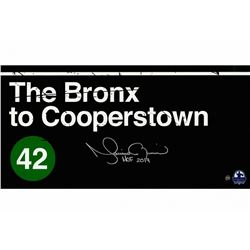 Mariano Rivera Signed  The Bronx to Cooperstown  10x20 Photo Inscribed  HOF 2019  (Steiner COA)