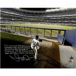"Mariano Rivera Signed New York Yankees ""Warming Up in the Bullpen"" 16x20 Photo With Extensive Inscri"